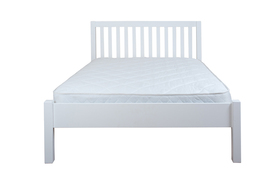 Silentnight Hayes White Wooden Bed Frame Front