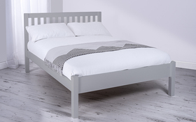 Silentnight Hayes Wooden Bed Frame Grey Angle