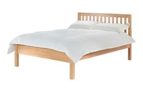 Silentnight Hayes Wooden Bed Frame Side Dressed