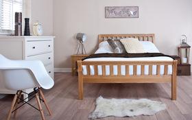 Silentnight Lancaster Oak Bed Front