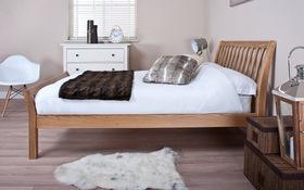 Silentnight Lancaster Oak Bed Sideview