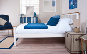 Silentnight Minerve Wooden Bed Sideview