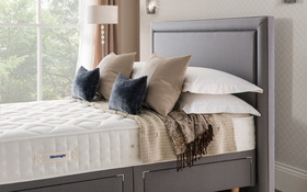 Silentnight Palermo Headboard Slate Grey Roomshot