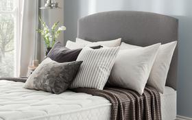 Silentnight Slate Grey Divan Base Roomset With Selene Headboard