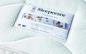 Sleepeezee Hybrid 2000 Pocket Mattress Label
