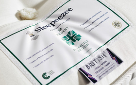 Sleepeezee Perfectly British Regent 2600 Pocket Mattress Label