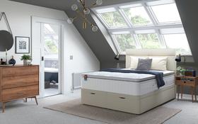 slumberland aero gel fusion 2800 pocket mattress roomshot