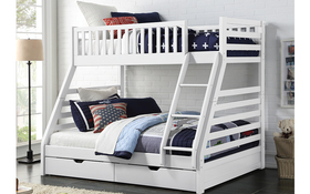 Sweet Dreams States Wooden Bunk Bed Bedroom White