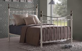 Time Living Elizabeth Ivory Metal Bed Frame Updated