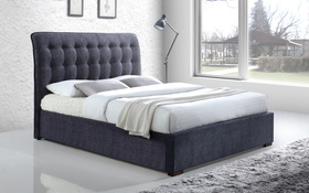 Time Living Hamilton Dark Grey Fabric Bed
