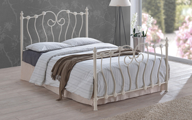 Time Living Inova Ivory Metal Bed Frame Double Updated