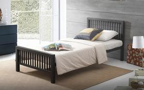 Time Living Meridian Black Double Metal Bed Frame