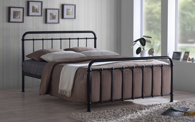 Time Living Miami Double Ivory Bed Frame