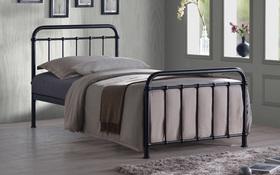Time Living Miami Single Black Bed Frame