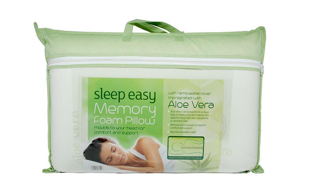 Image of Aloe Vera Memory Foam Pillow, Standard Pillow Size