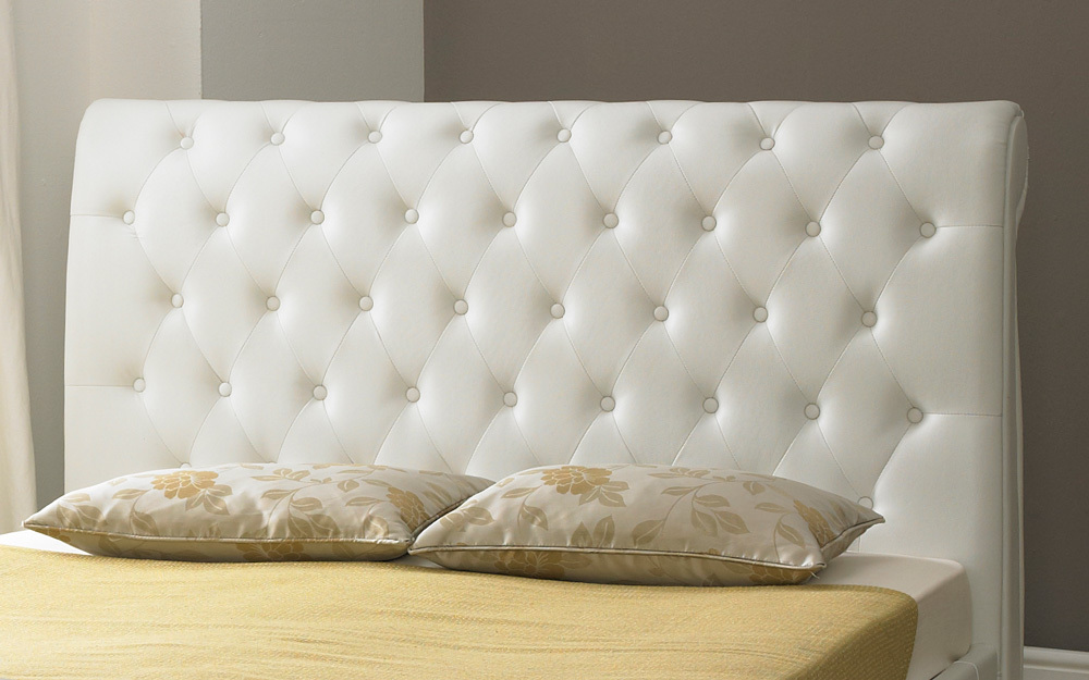 Faux Leather Button Bed Mattress Online