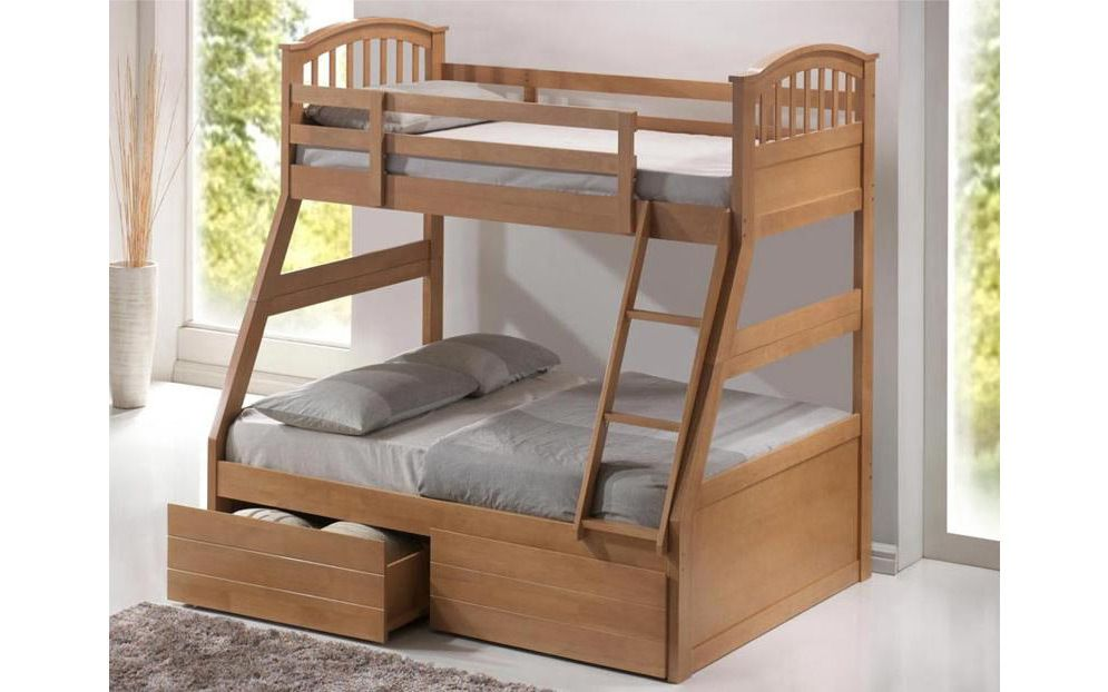 Three Sleeper Wooden Bunk Bed Mattress Online