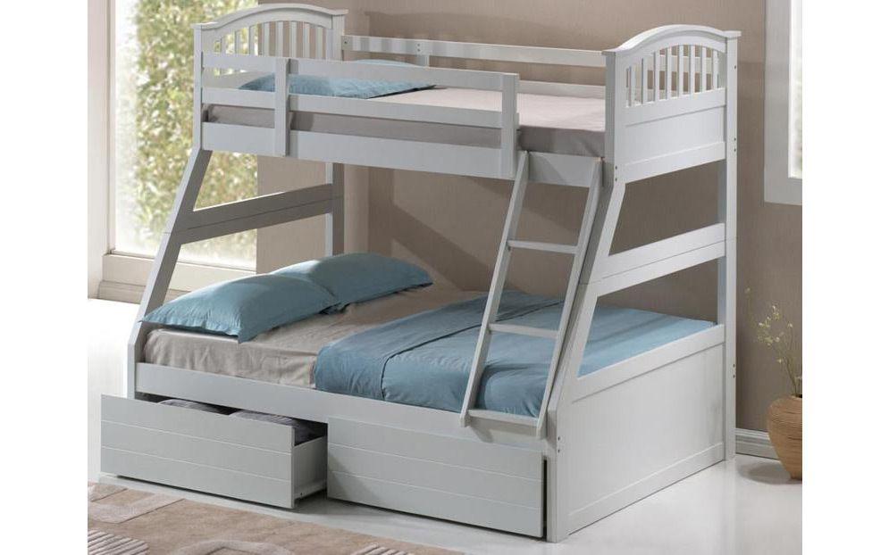 The Three Sleeper Wooden Bunk Bed sleeps three