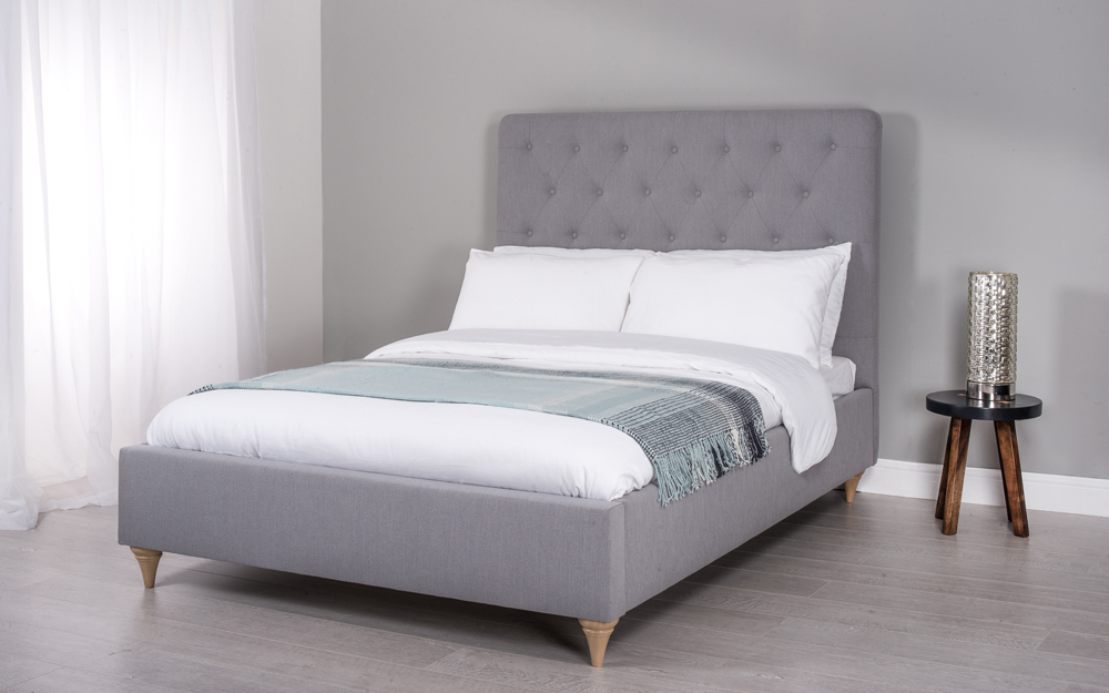 Cadot Rosa Grey Fabric Bed, King Size