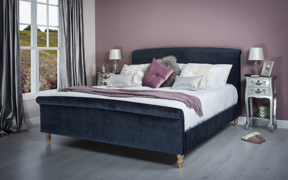 Cadot Zafia Midnight Fabric Bed, Double £369.95