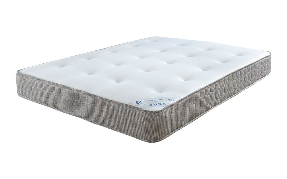 The Classic Gold Ortho Mattress features medium-firm orthopaedic support