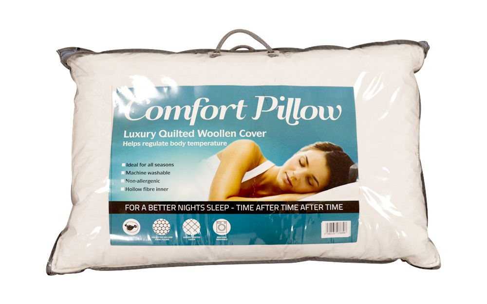 Comfort Luxury Quilted Wool Pillow