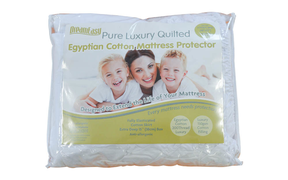 Dreameasy Luxury Egyptian Cotton Mattress Protector