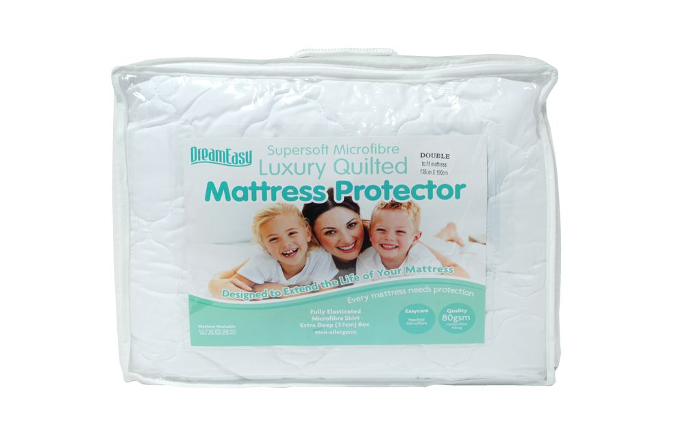 Dreameasy Luxury Quilted Microfibre Mattress Protector