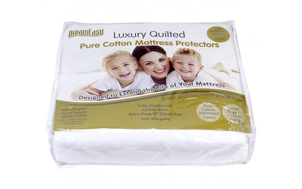 Dreameasy Luxury Pure Cotton Mattress Protector from £24.95