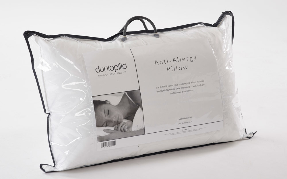 Dunlopillo Anti Allergy Pillow, Standard Pillow Size £34.95