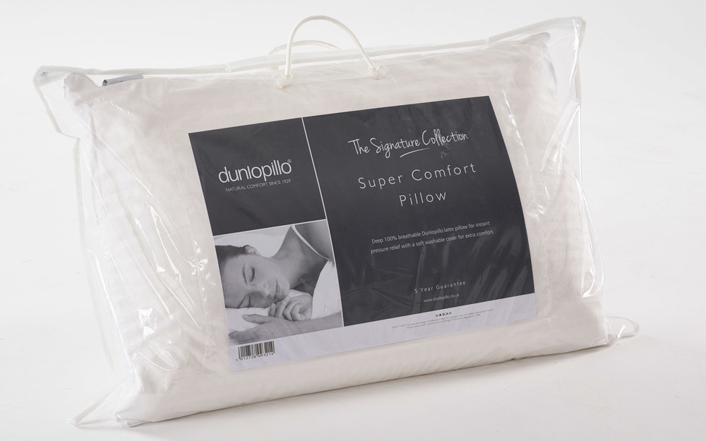 Dunlopillo Super Comfort Latex Pillow, Standard Pillow Size £69.95
