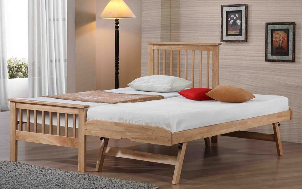 Flintshire Pentre Hardwood Guest Bed in Oak, Single £344.95