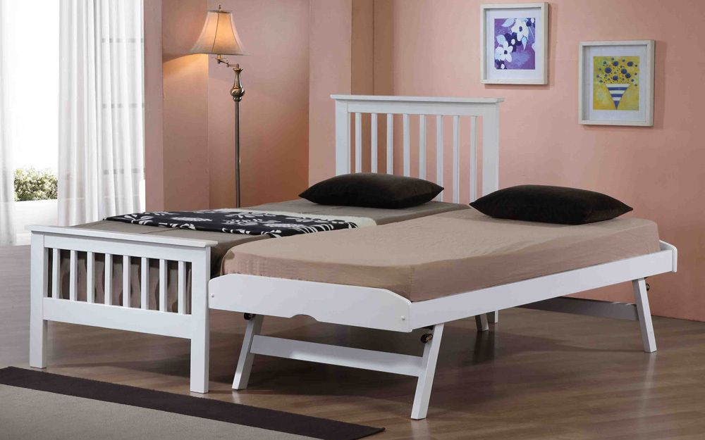 Flintshire Pentre Hardwood Guest Bed in White, Single £379.95