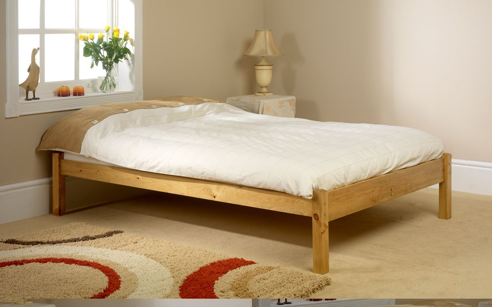 Friendship Mill Studio Wooden Bed Frame, King Size, No Storage