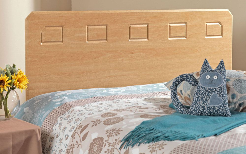 Friendship Mill Miami Wooden Headboard, Double, Beech effect £99.95