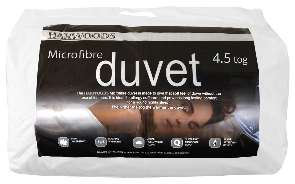 Harwoods 4.5 Tog Microfibre Duvet