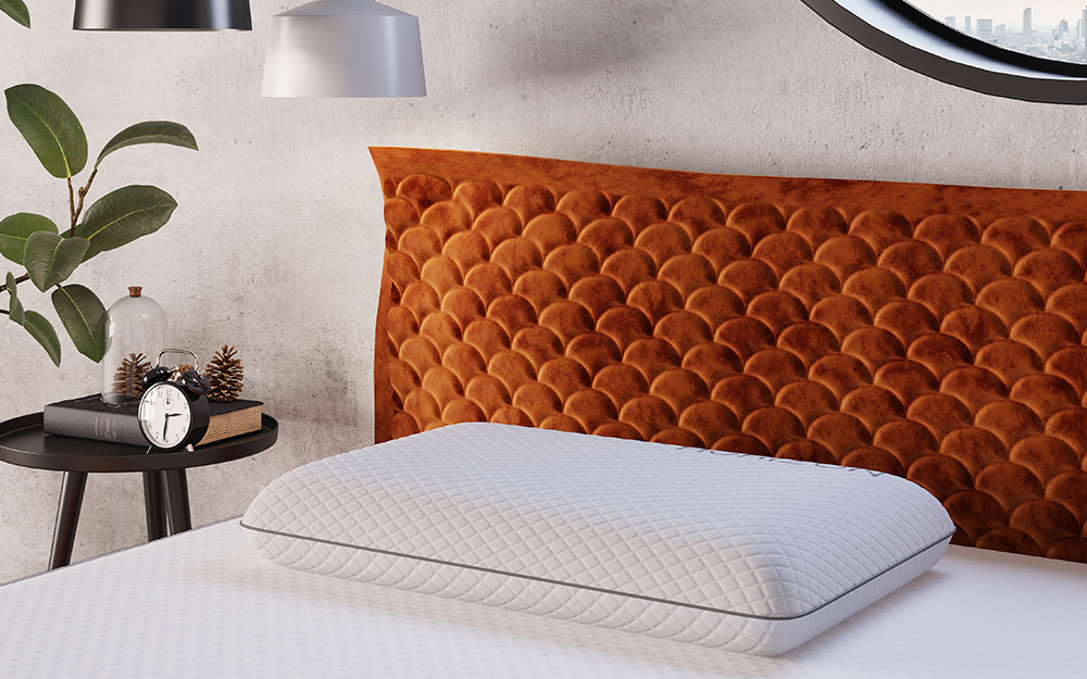 The Horizon Memory Foam Pillow on a bed