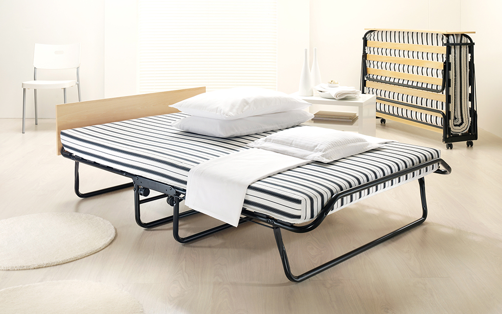 The Jay-Be Jubilee Folding Bed with Rebound e-Fibre Mattress in double, complete with mattress