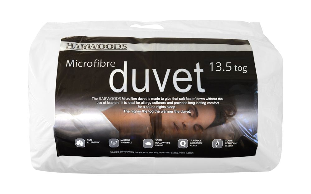 Harwoods 13.5 Tog Microfibre Duvet from £27.95