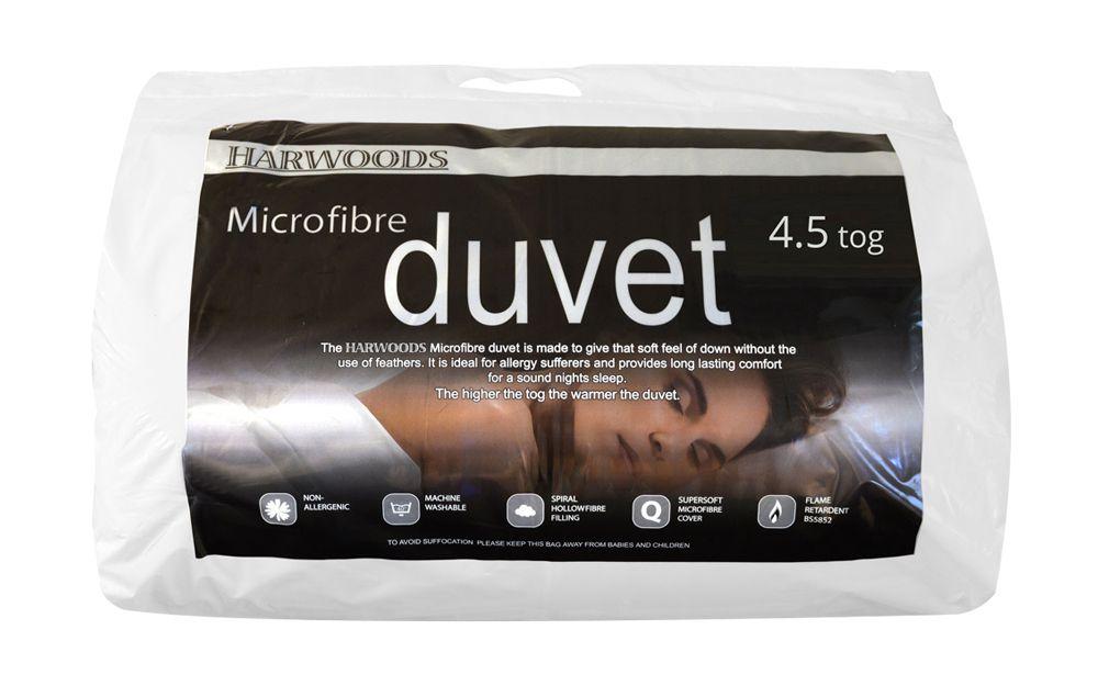 Harwoods 4.5 Tog Microfibre Duvet from £22.95