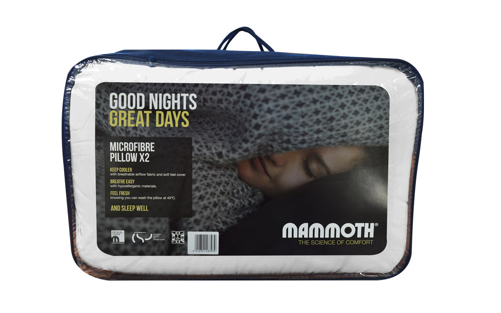 Mammoth Microfibre Pillow Pair