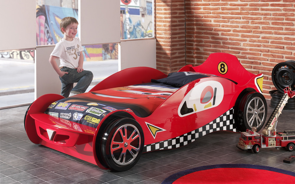 Speedster Racing Car Bed, Single, Red