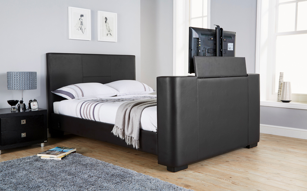 GFW Newark Faux Leather TV Bed