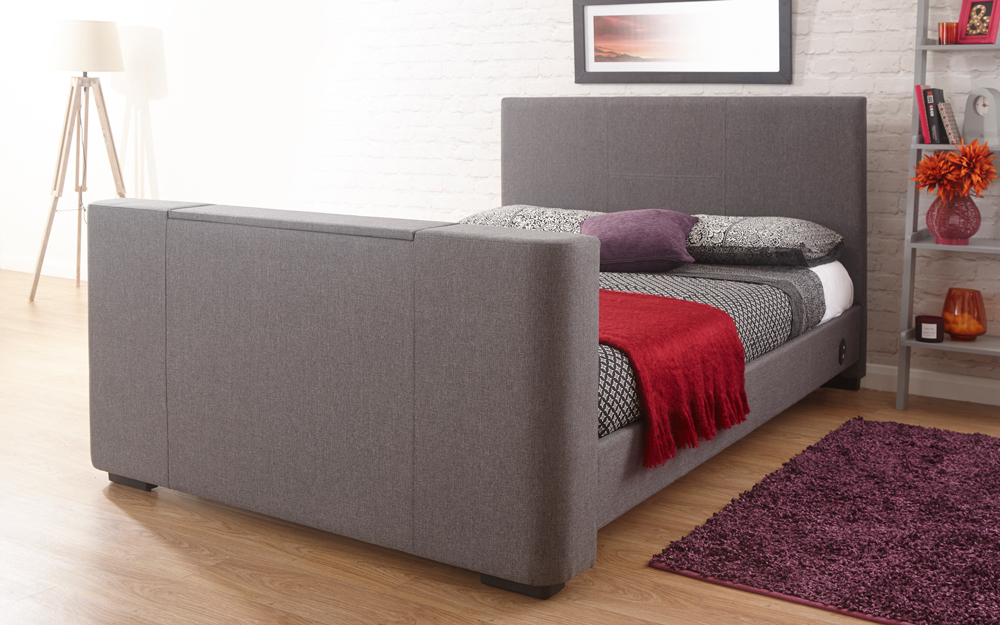 GFW Newark Fabric TV Bed, Double
