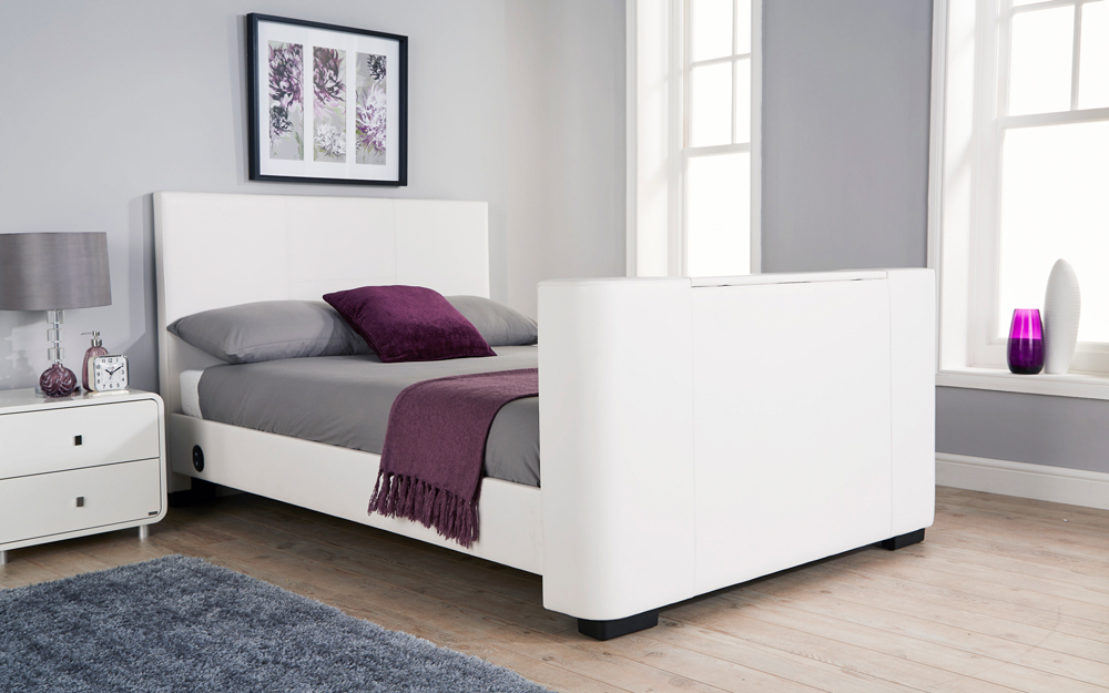 GFW Newark Faux Leather TV Bed - Mattress Online