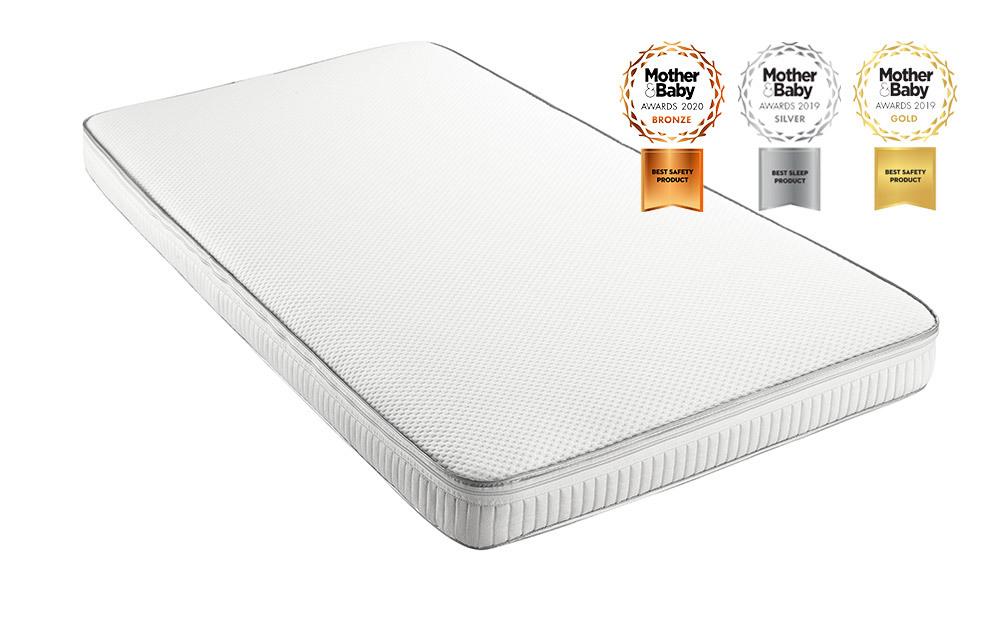 The Relyon Luxury Pocket Sprung Cot Bed Mattress is an award-winning cot mattress