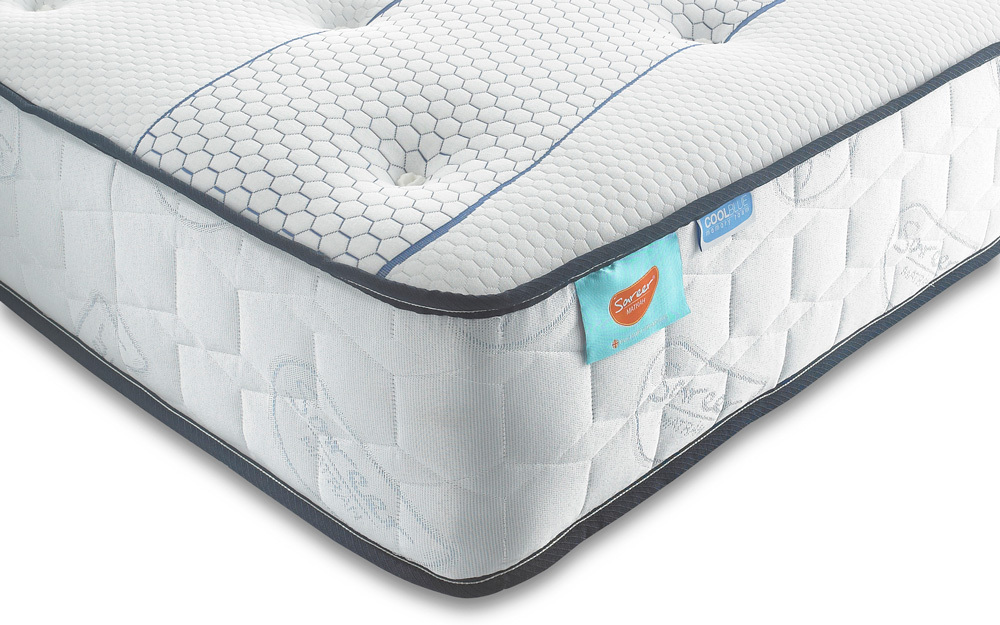 Sareer Cool Blue 1000 Pocket Memory Mattress, Small Single