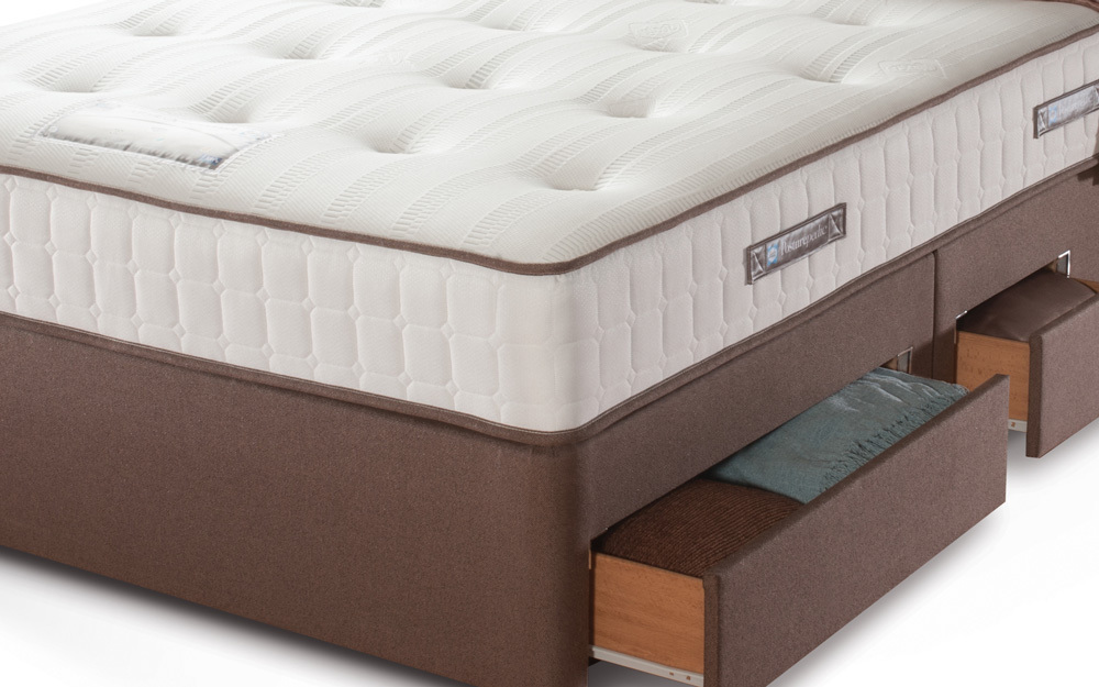 Sealy sealy optimum inspiration gold plush mattress for Divan unwind