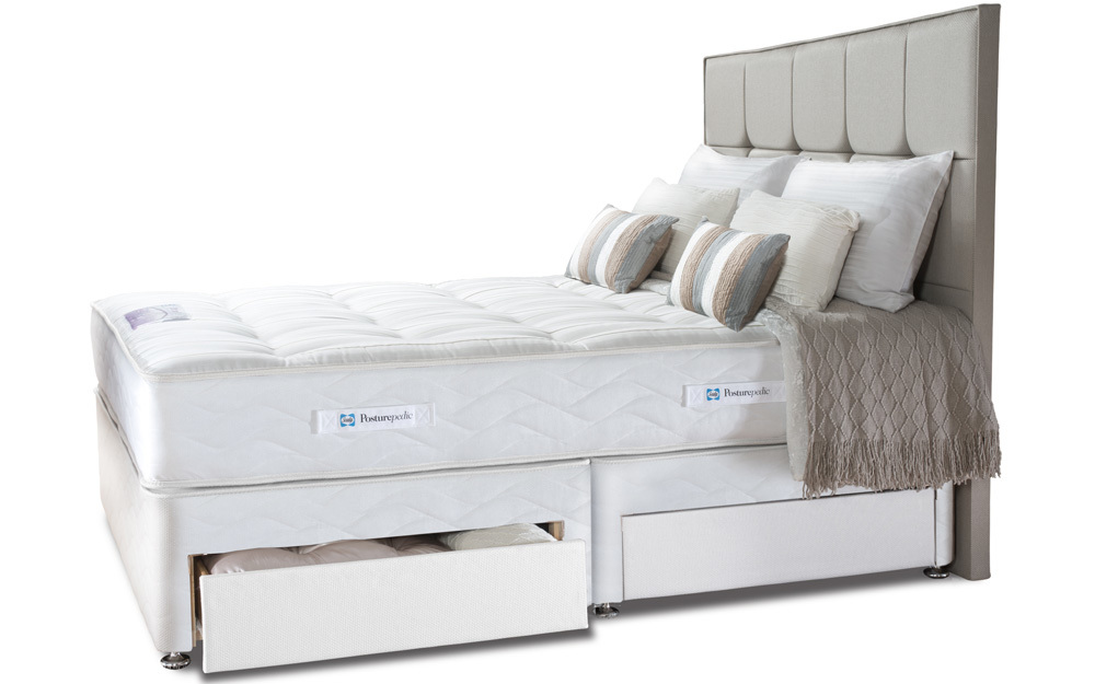 Sealy posturepedic pearl elite divan bed mattress online for Divan storage bed mattress