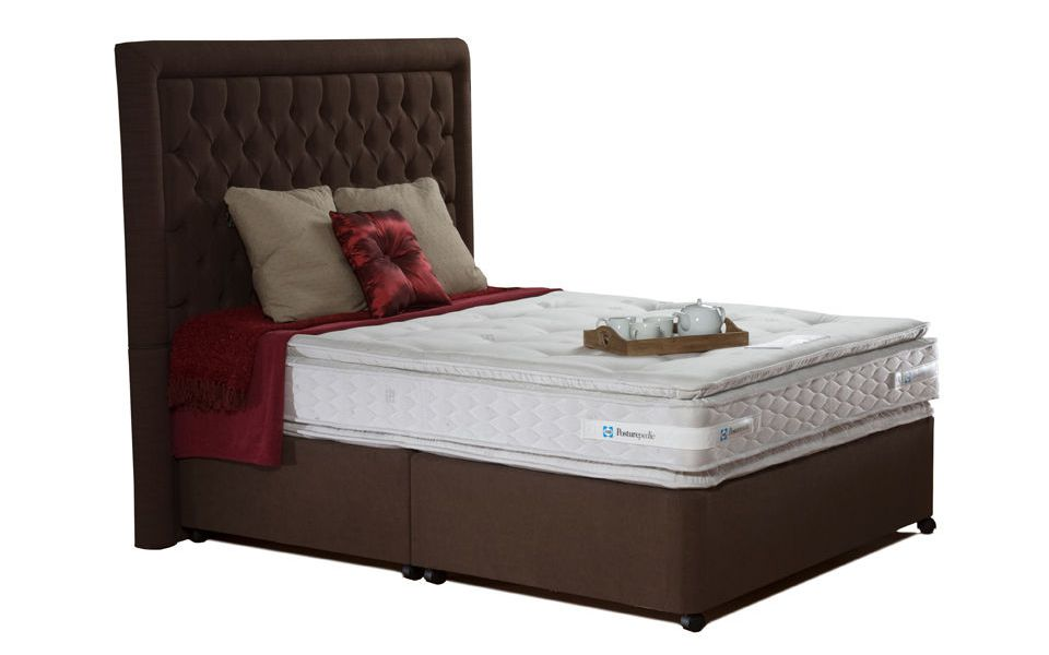 The Sealy Coniston Contract Pillow Top Divan Bed with matching mattress